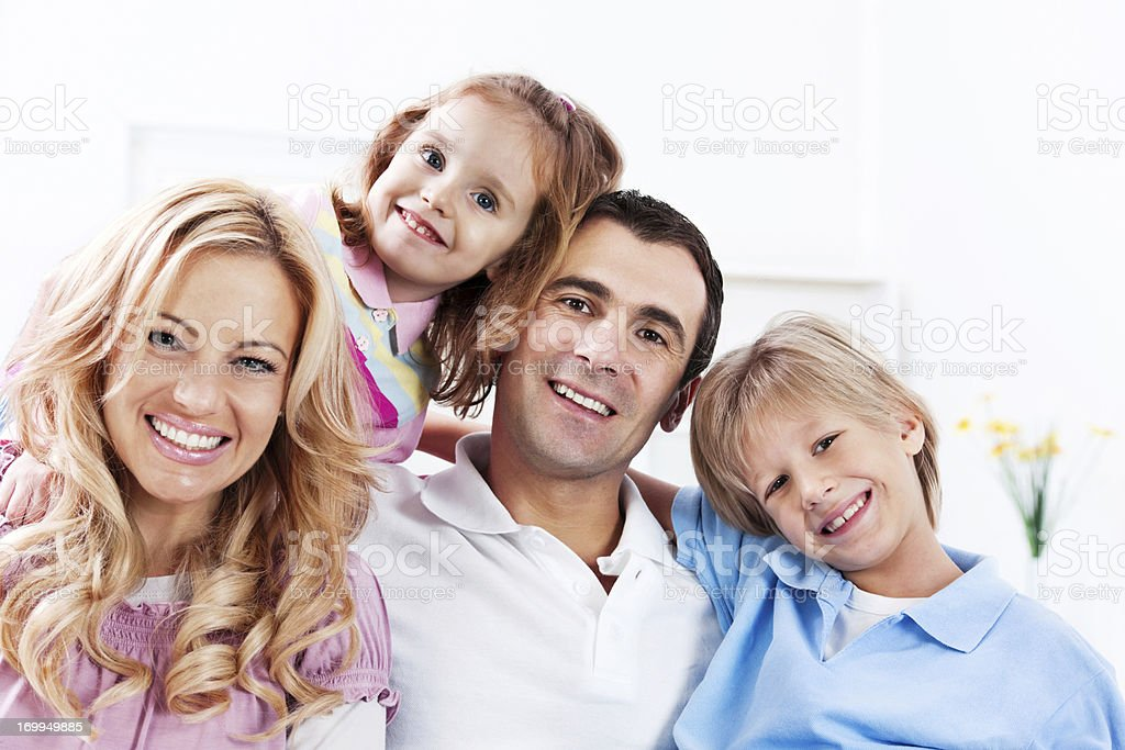 Portrait of a beautiful family. royalty-free stock photo