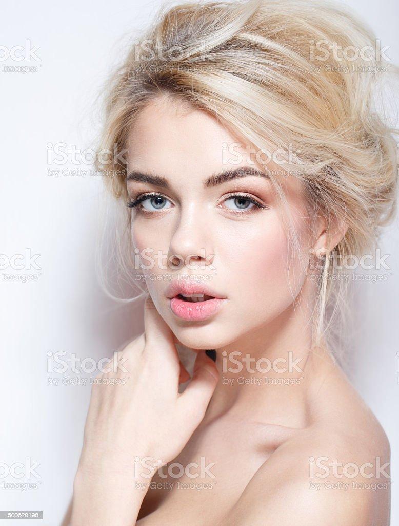 Portrait of a beautiful fashion bride, stock photo