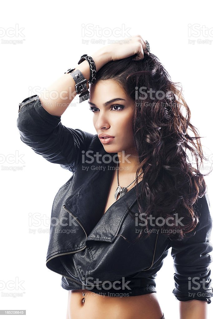 Portrait of a beautiful fashion model. royalty-free stock photo