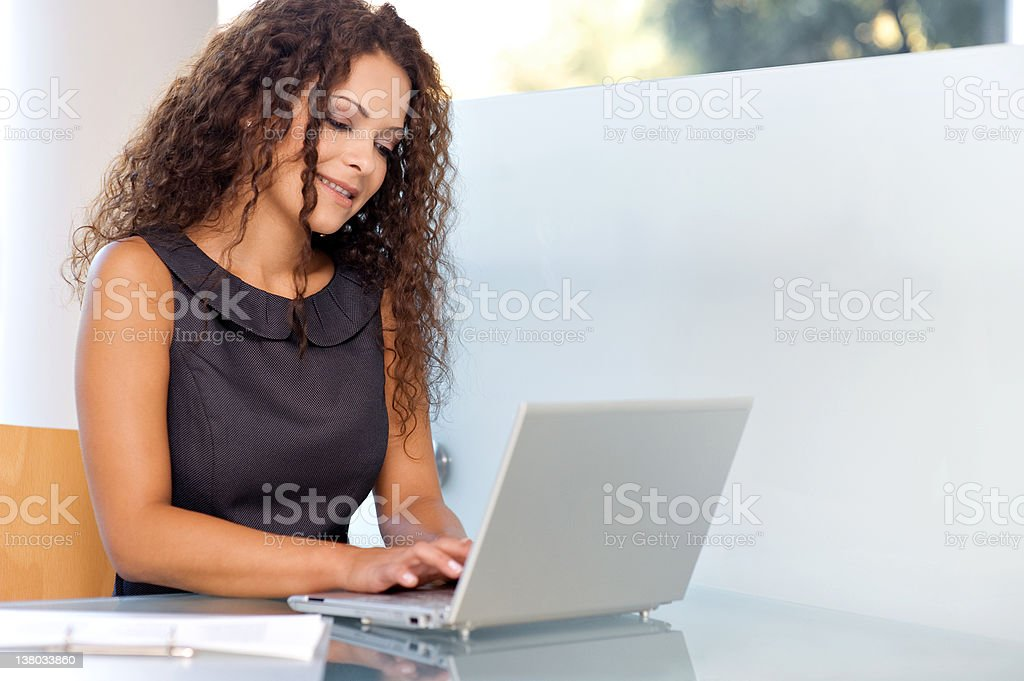 Portrait of a Beautiful Female Manager royalty-free stock photo