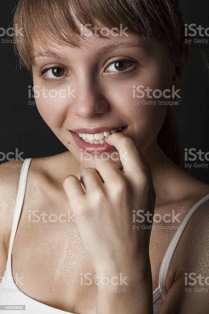 Portrait of a beautiful girl stock photo