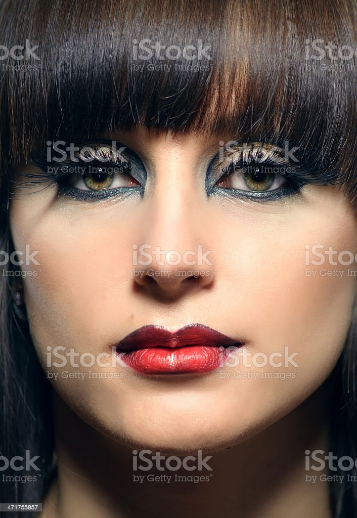 portrait of a beautiful girl with dyed hair royalty-free stock photo