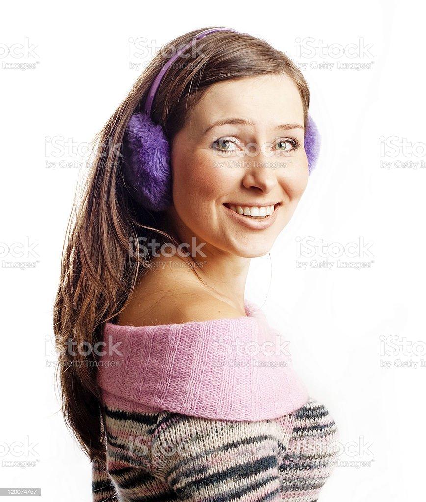 Retrato de una bella mujer joven feliz foto de stock libre de derechos