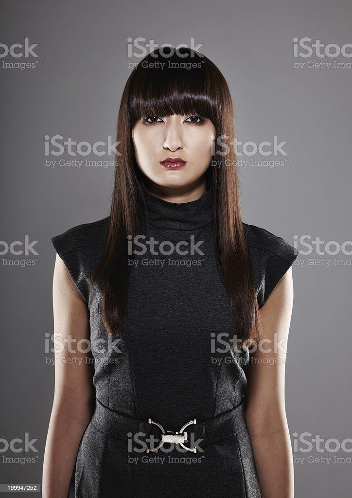 Portrait of a beautiful Japanese woman stock photo