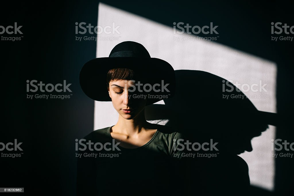 Portrait of a beautiful lady stock photo