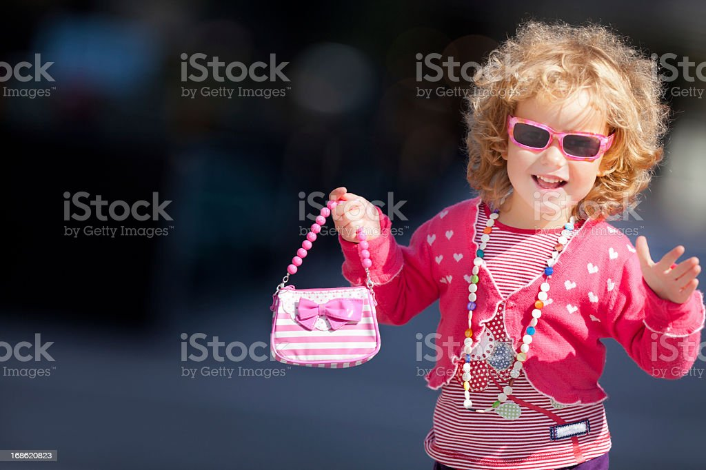 Portrait of a beautiful little girl royalty-free stock photo