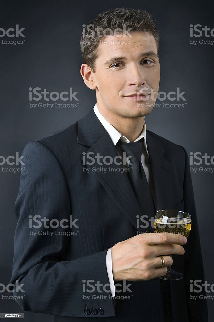 Portrait of a beautiful man royalty-free stock photo