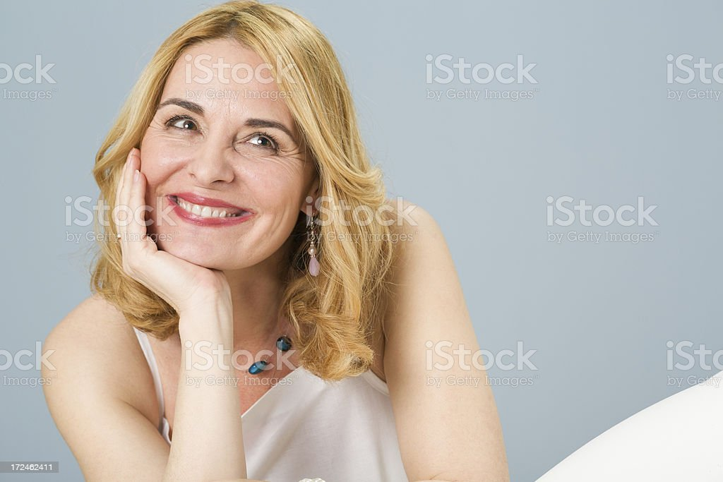 Portrait of a beautiful mature woman royalty-free stock photo