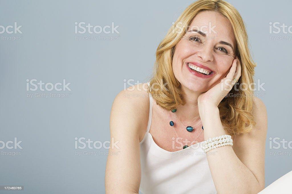 Portrait of a beautiful mature woman royalty-free stock photo