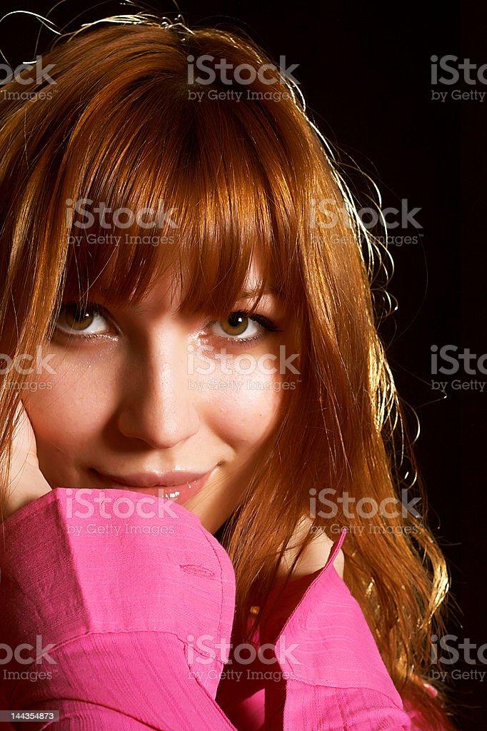 Portrait of a beautiful, seductive woman royalty-free stock photo