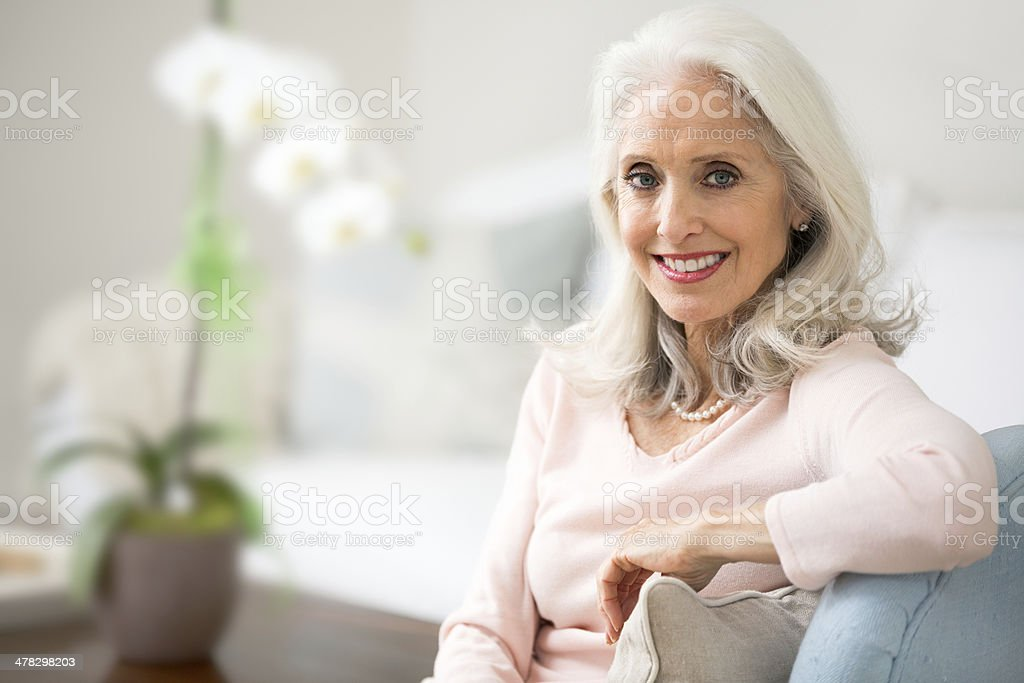 Portrait of a beautiful senior woman. royalty-free stock photo
