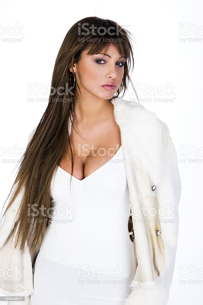 portrait of a beautiful sexy girl royalty-free stock photo