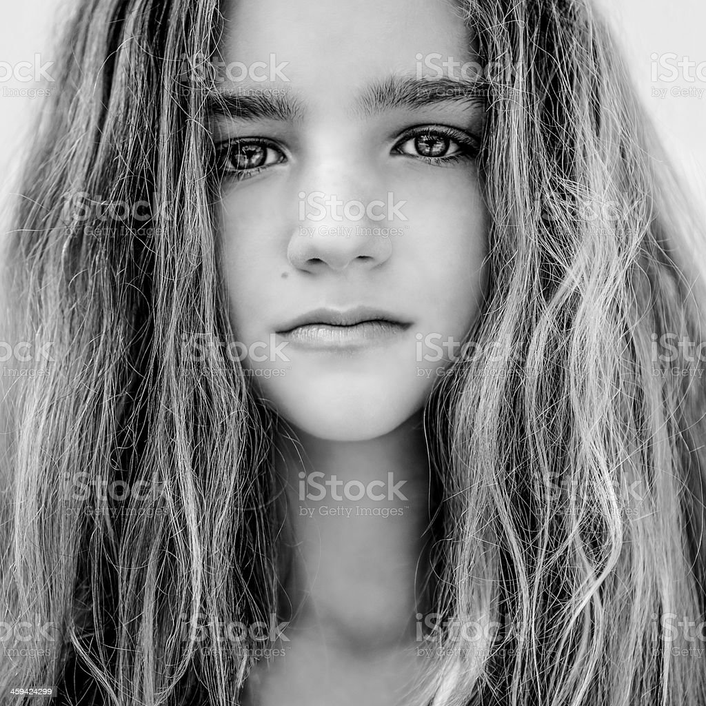 portrait of a beautiful teen girl royalty-free stock photo