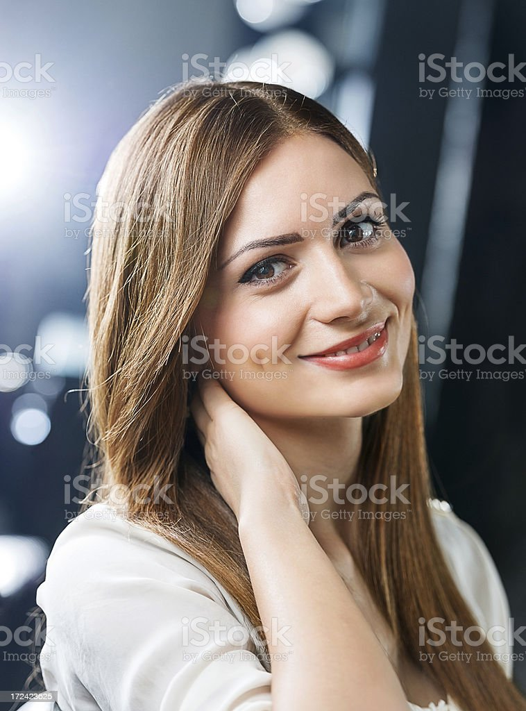 Portrait of a beautiful woman. royalty-free stock photo