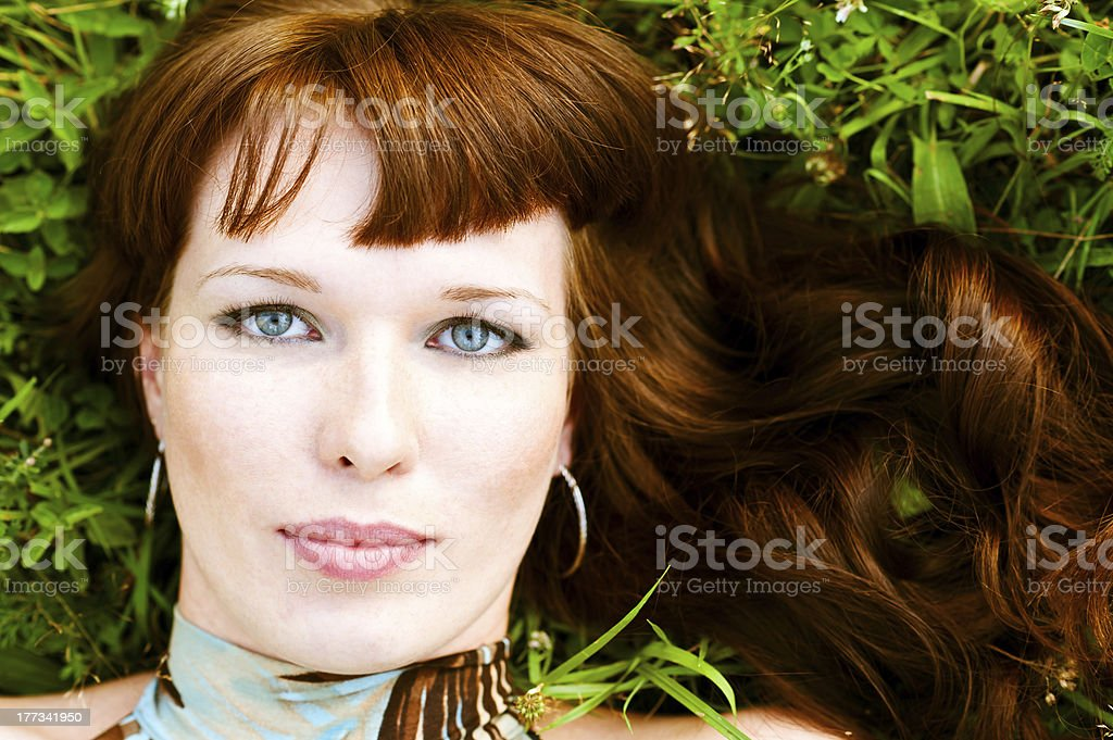 portrait of a beautiful woman royalty-free stock photo