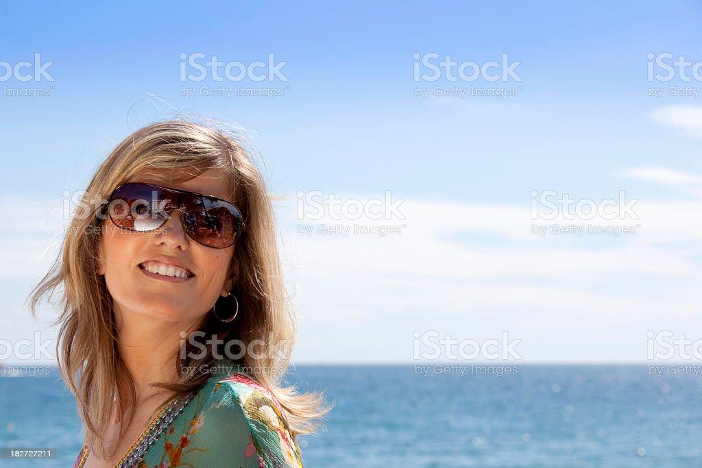 Portrait of a beautiful woman royalty-free stock photo