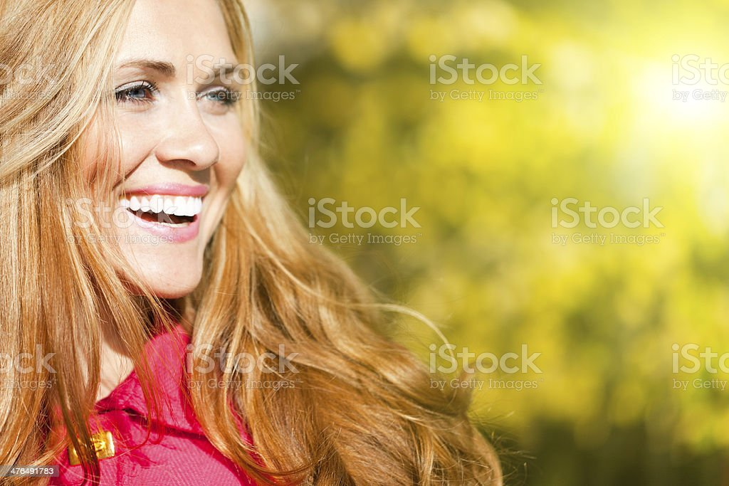 Portrait of a beautiful woman stock photo