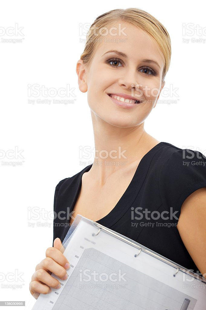 Portrait of a beautiful young businesswoman royalty-free stock photo
