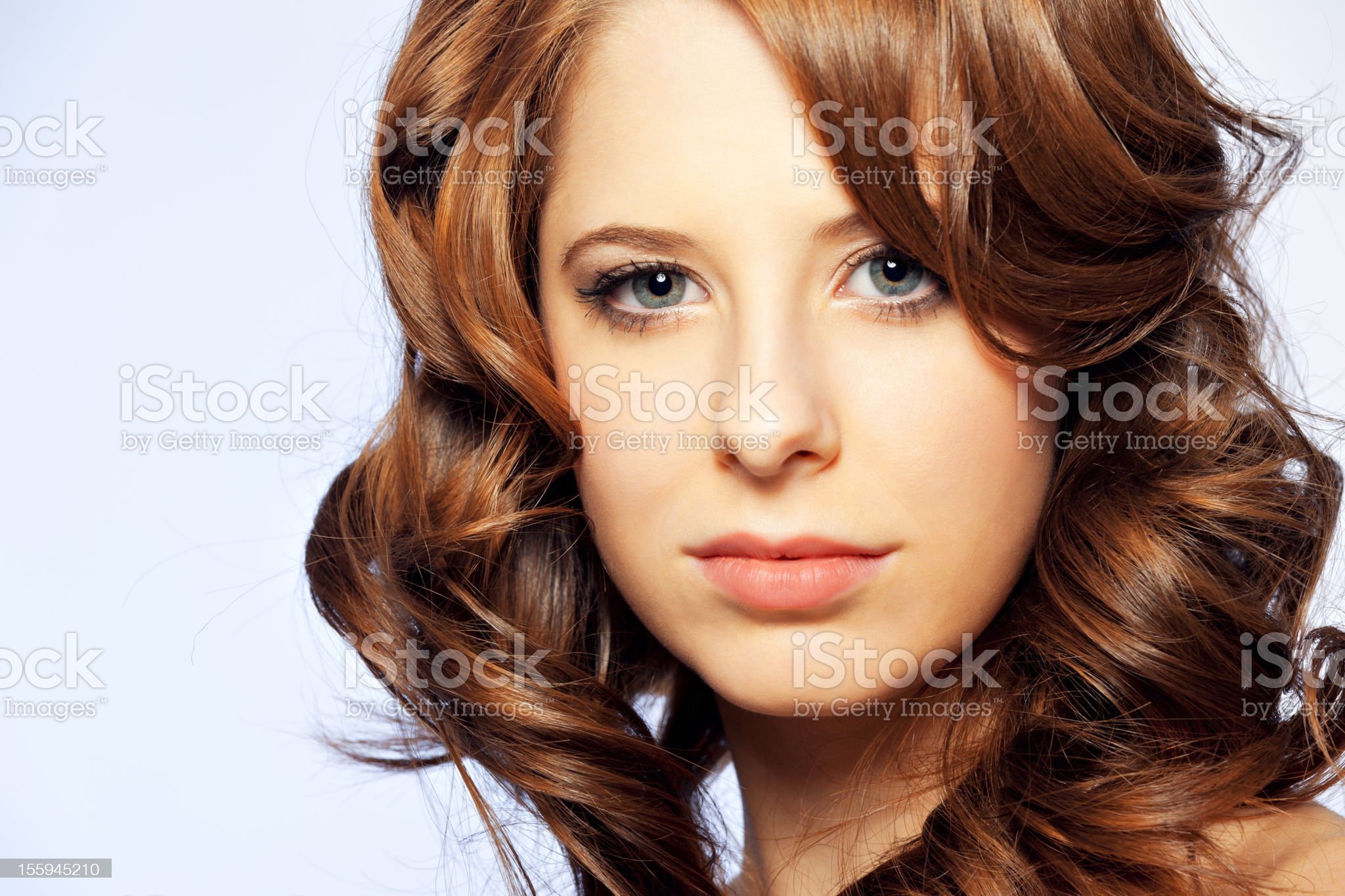 Portrait of a beautiful young woman royalty-free stock photo