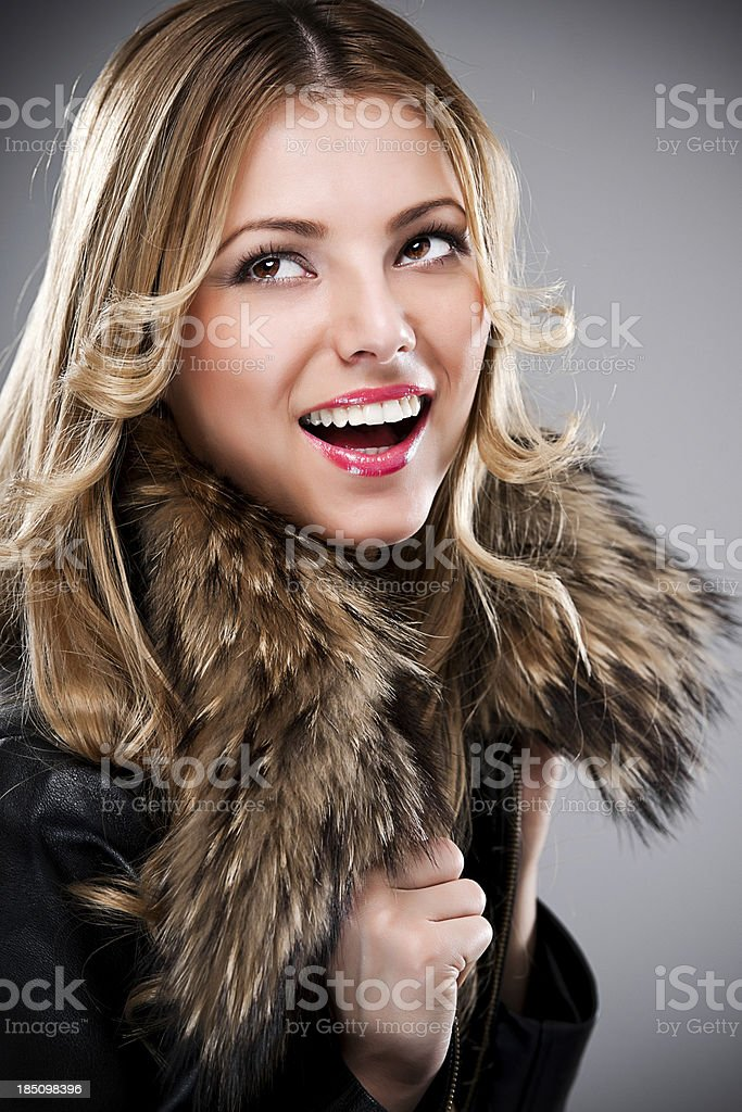 Portrait of a beautiful young woman. royalty-free stock photo