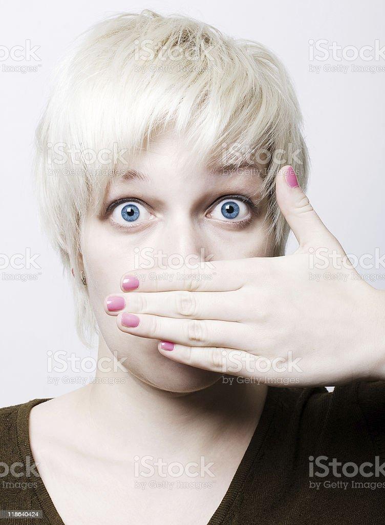 Retrato de una mujer de belleza nos foto de stock libre de derechos