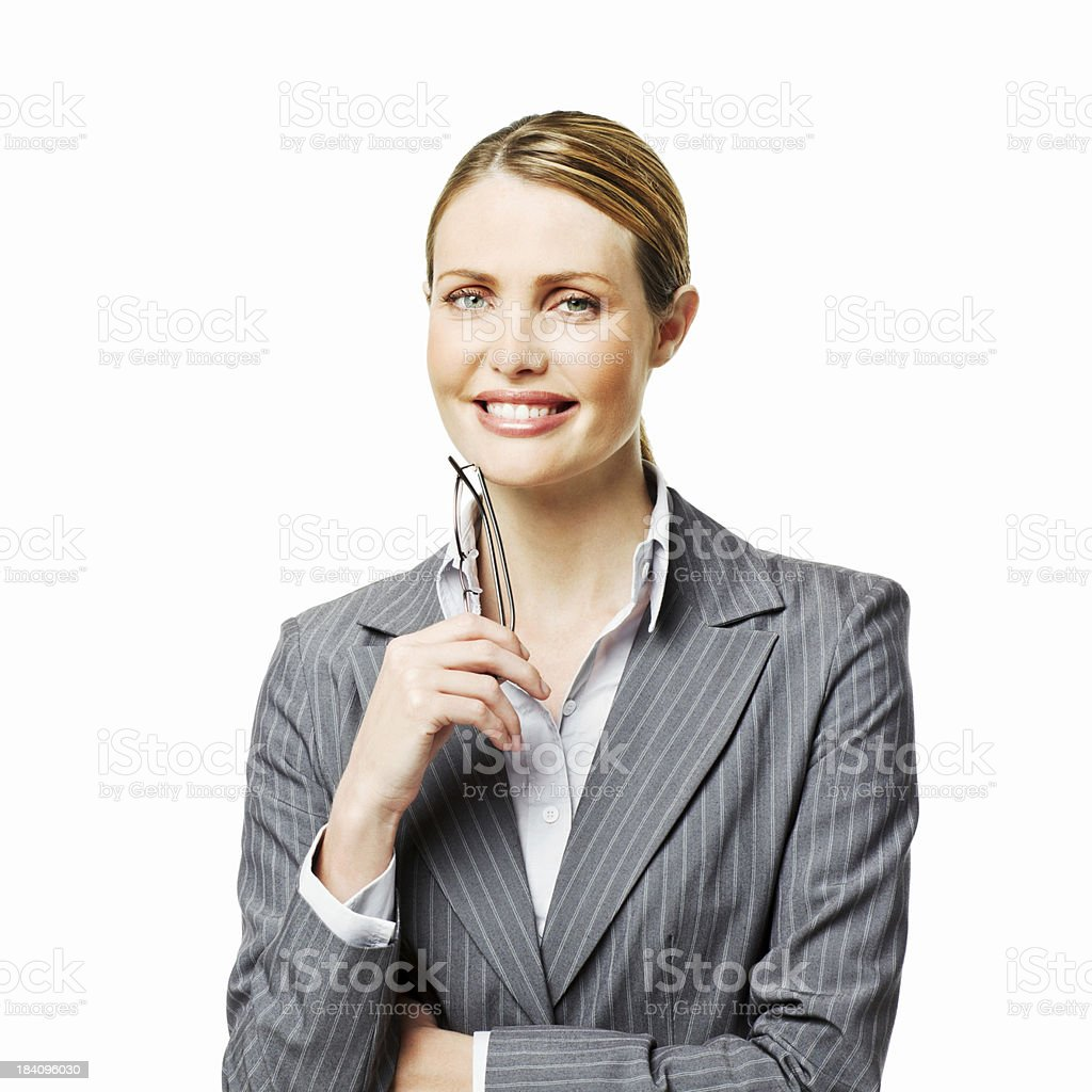 Portrait of a Blond Businesswoman - Isolated stock photo