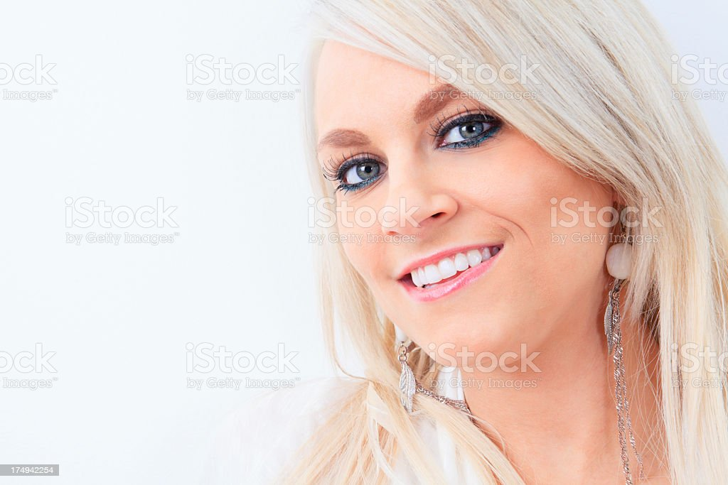 Portrait of a Blond Woman royalty-free stock photo