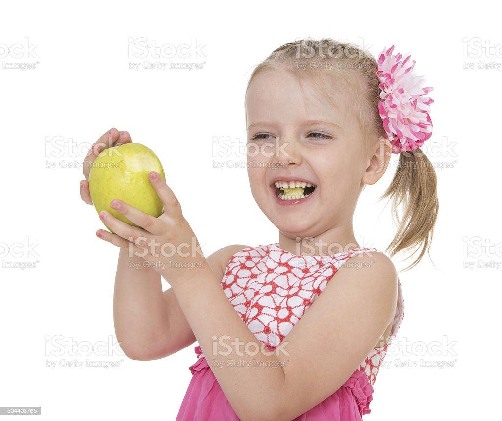 Portrait d'une blonde fille en Chemise rose photo libre de droits
