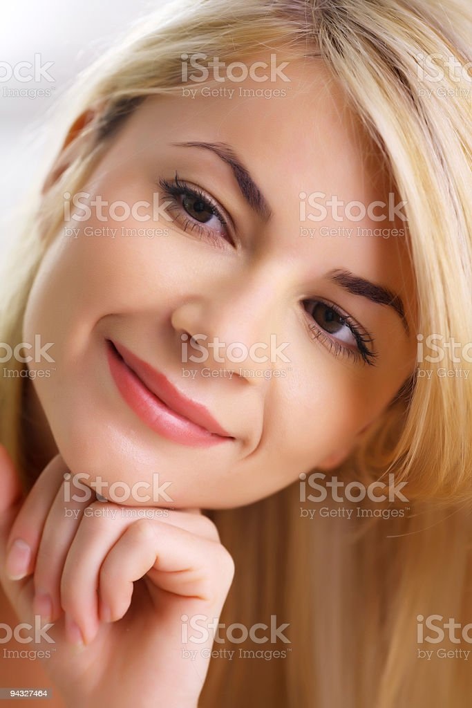 Portrait of a blonde woman. royalty-free stock photo