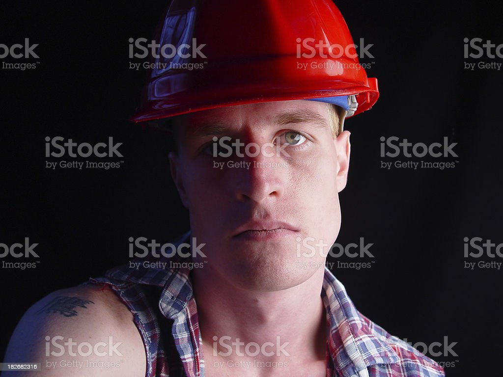 portrait of a blue collar working man royalty-free stock photo