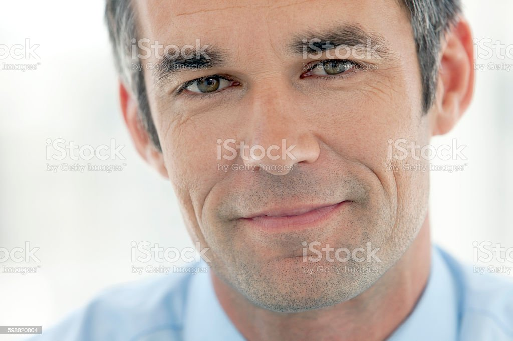 Portrait of a business executive officer stock photo