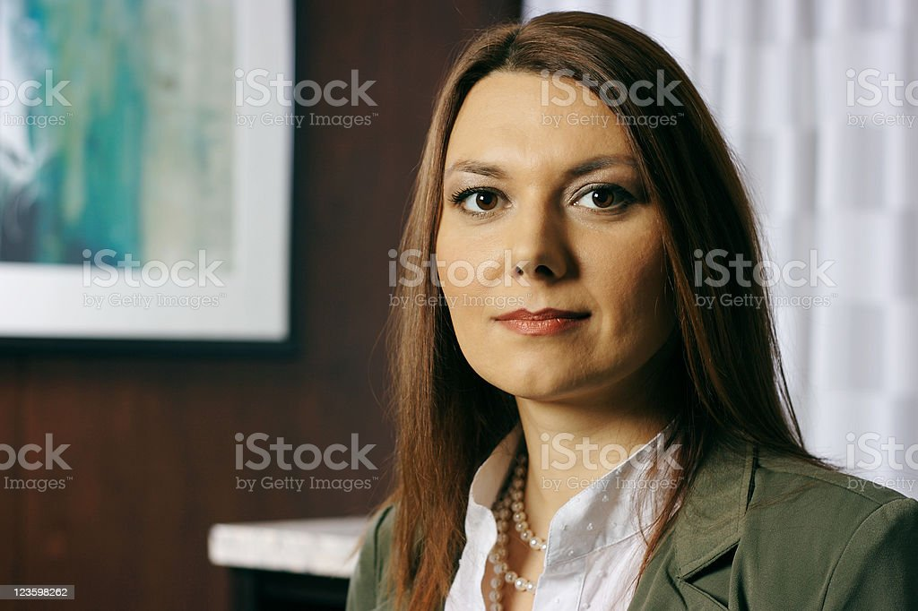 Portrait of a Business Woman royalty-free stock photo