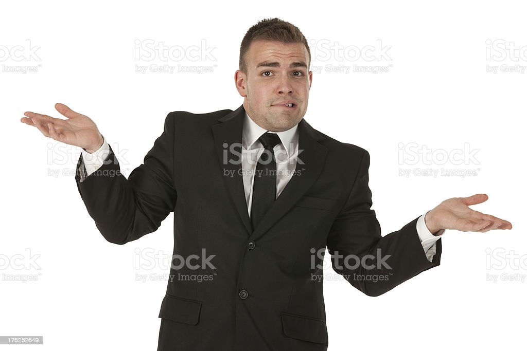 Portrait of a businessman gesturing royalty-free stock photo