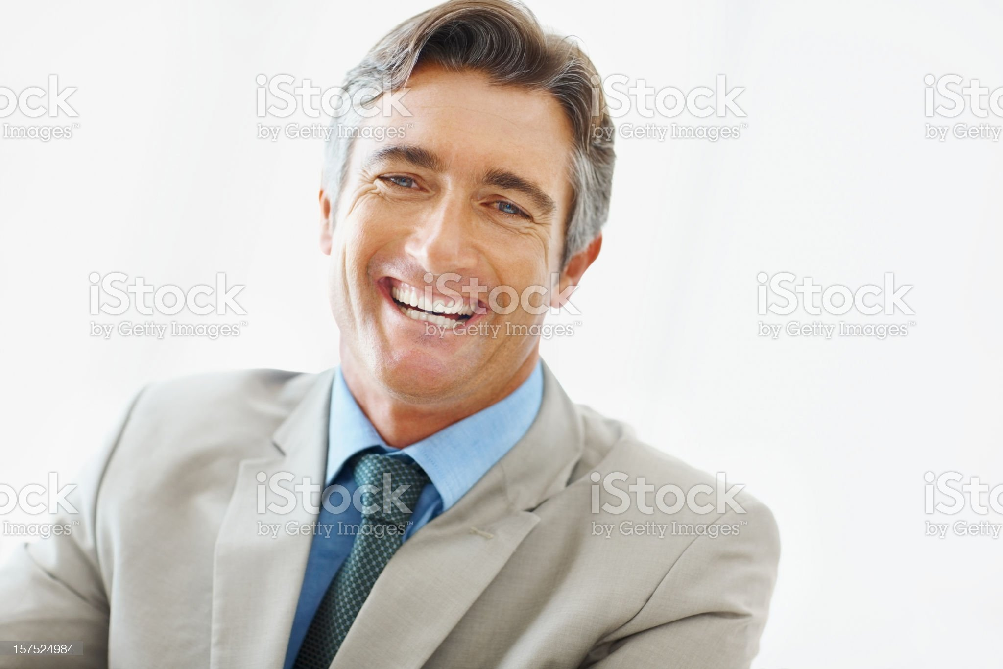 Portrait of a businessman laughing royalty-free stock photo