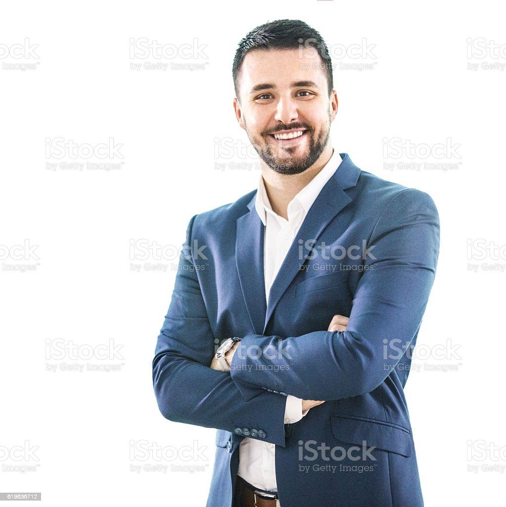 Portrait of a businessman. stock photo
