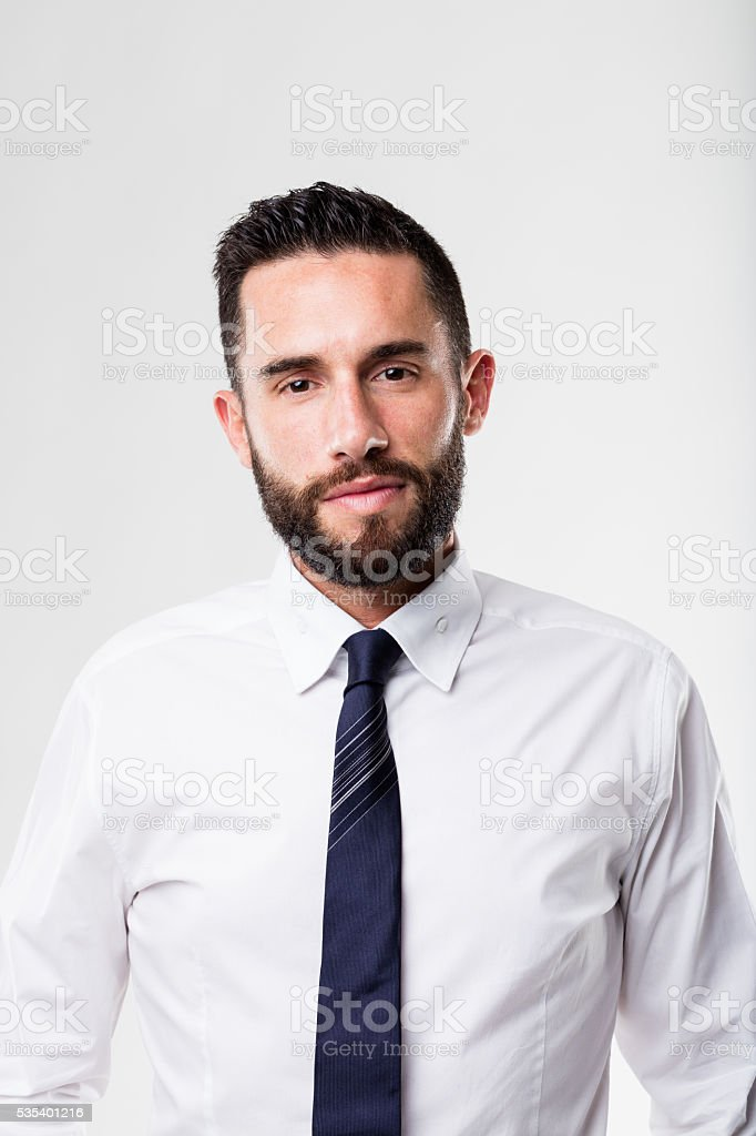 portrait of a businessman with beard stock photo
