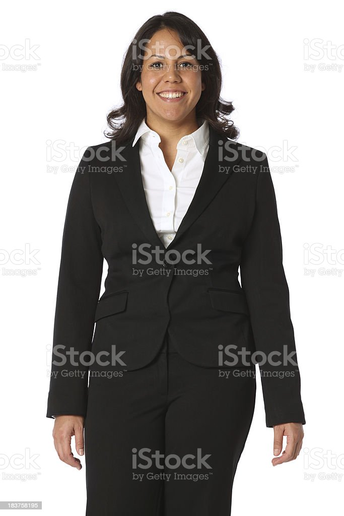Portrait of a businesswoman standing royalty-free stock photo