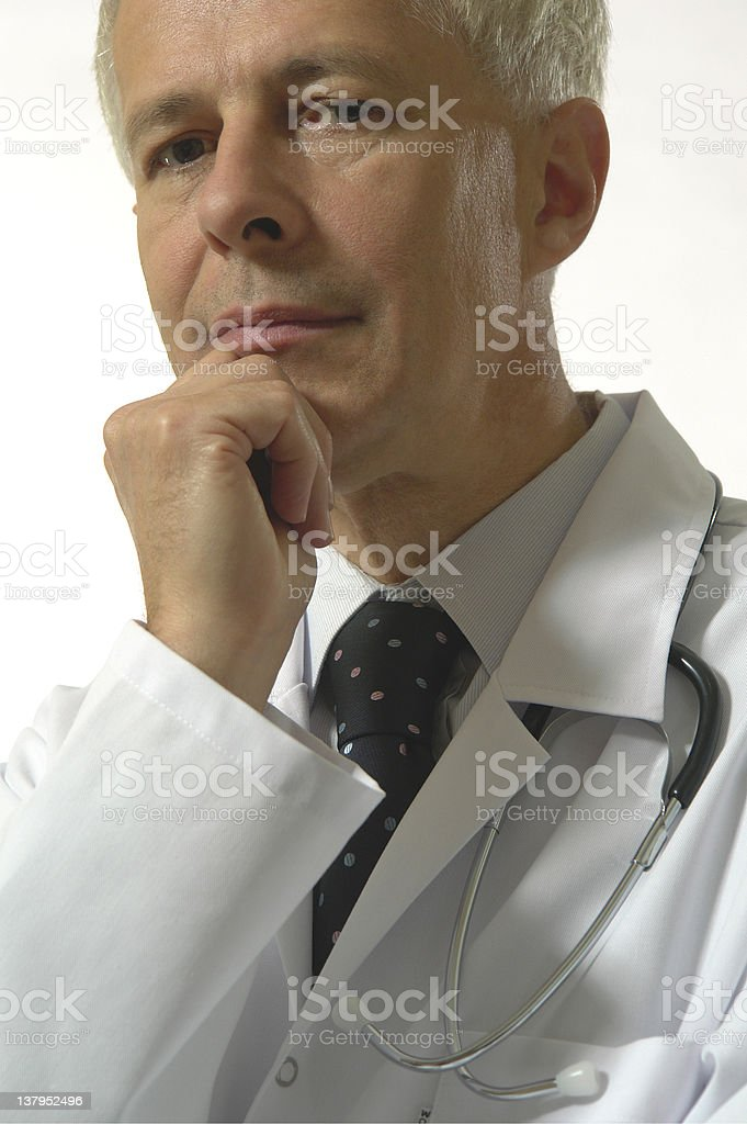 Portrait of  a caring doctor stock photo