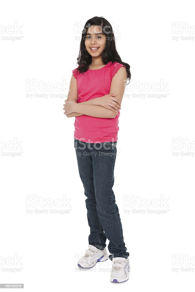 Portrait of a Casual Indian Girl royalty-free stock photo