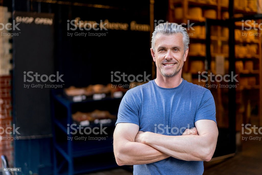 Portrait of a casual man stock photo