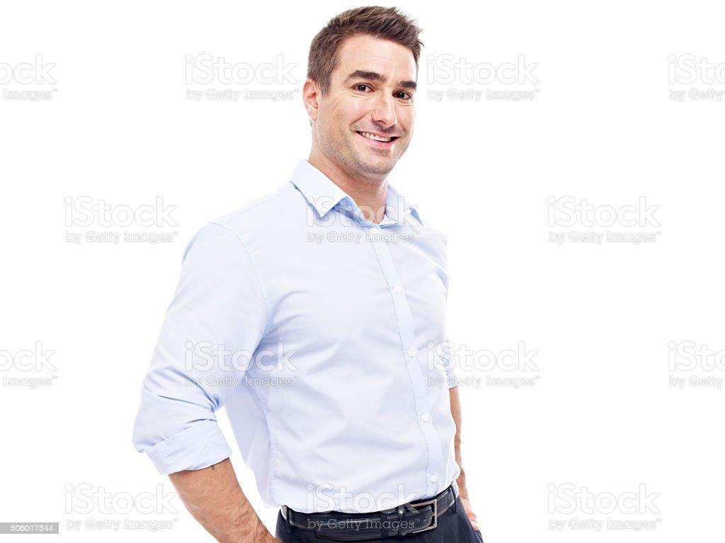portrait of a caucasian businessman stock photo