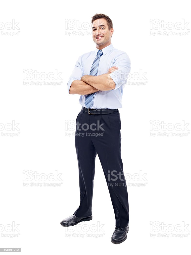 portrait of a caucasian businessman stock photo