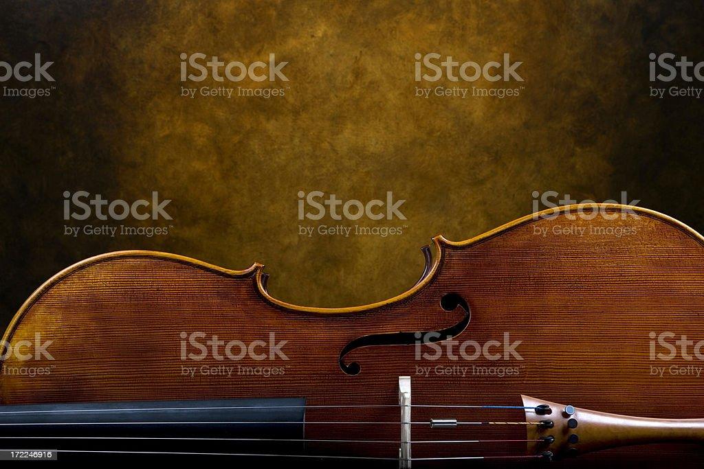 Portrait of a Cello stock photo