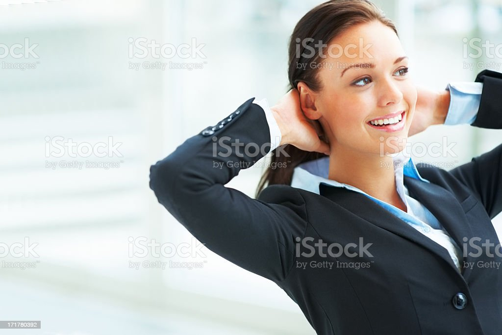 Portrait of a charming business woman stock photo