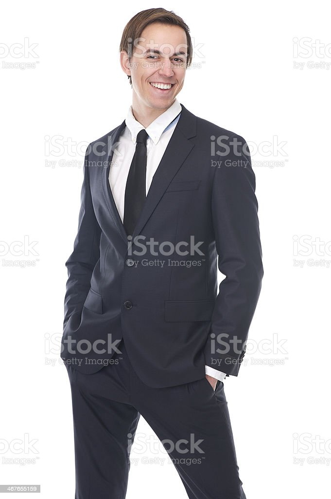 Portrait of a charming young businessman smiling royalty-free stock photo