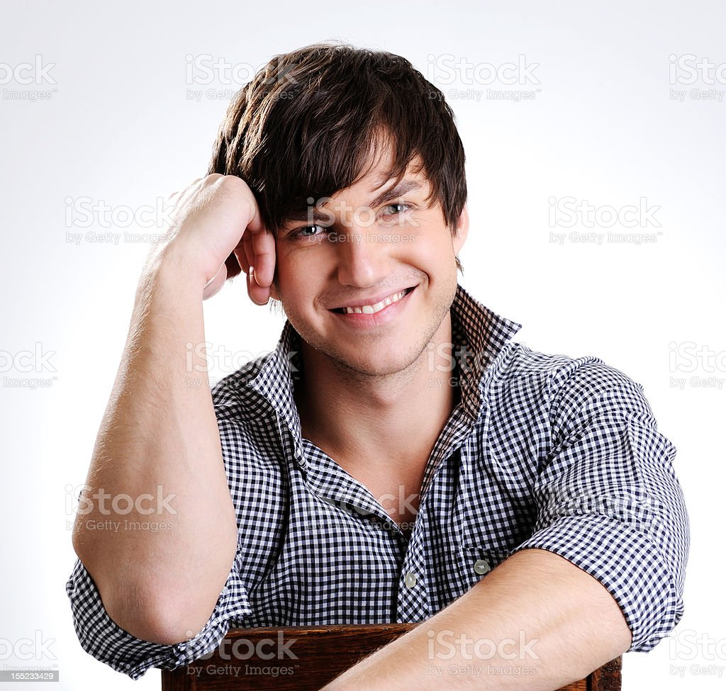 portrait of a cheerful handsome caucasian man royalty-free stock photo