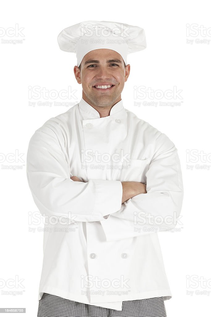 Portrait of a chef with his arms crossed royalty-free stock photo