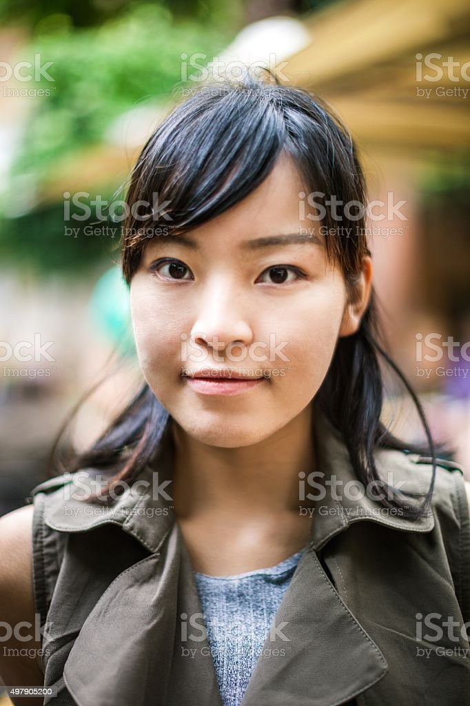 Portrait of a chinese woman stock photo