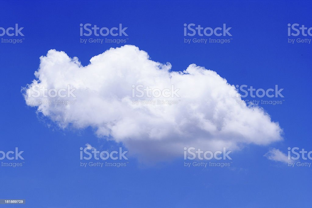 portrait of a cloud royalty-free stock photo
