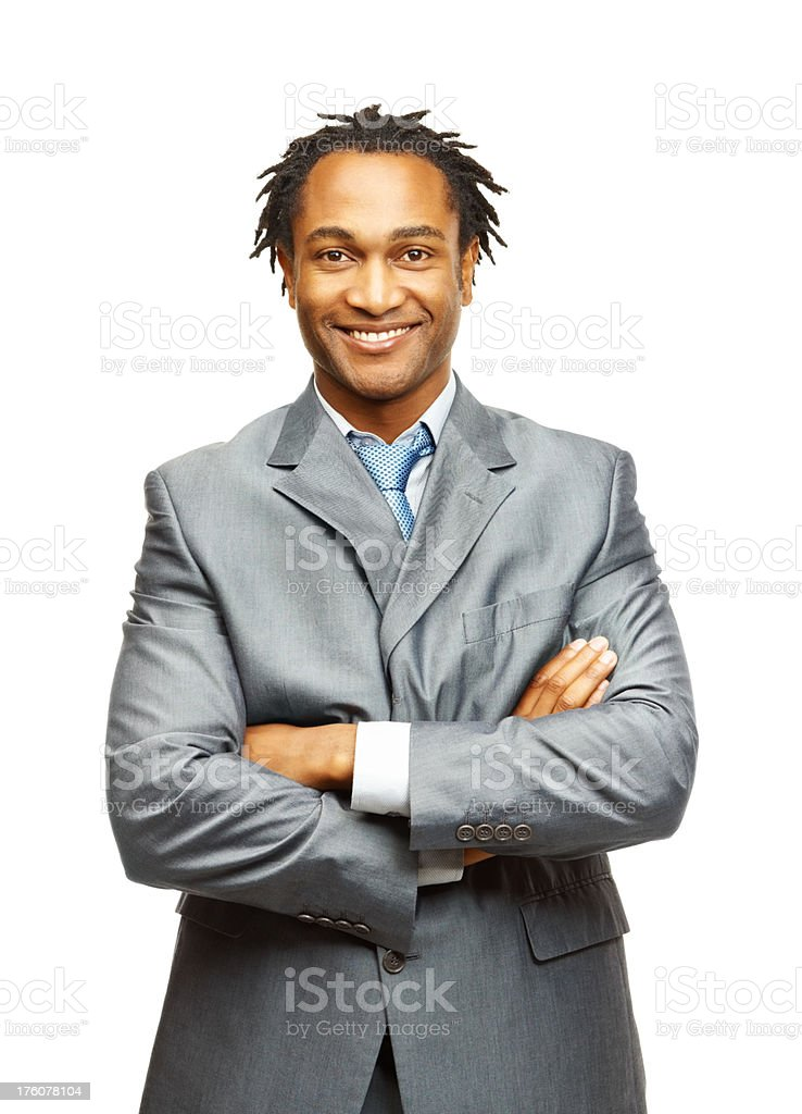Portrait of a confident African American business man royalty-free stock photo